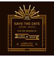 Wedding Invitation Card - Art Deco Vintage Style vector image vector image