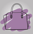 Woman handbag hand drawn fashion vector image vector image