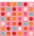 Color Big Dots Pattern vector image