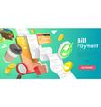 3d conceptual bill payment vector image