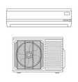 air conditioning split system outdoor and indoor vector image