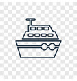 boat concept linear icon isolated on transparent vector image vector image