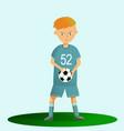 boy soccer player playing football