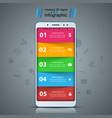 business infographic smartphone digital gadget vector image vector image