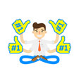 businessman in lotus pose icon vector image