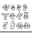 cartoon cute monsters design vector image