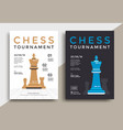 chess tournament poster vector image vector image