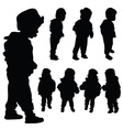 children set black silhouette vector image vector image