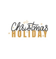 christmas holidays inscription lettering sign vector image vector image
