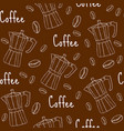 coffee seamless pattern with coffee maker cafe vector image vector image