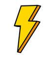 color nice light thunder art design vector image vector image