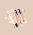 concealer foundation cosmetic ads template vector image