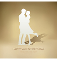 Couple Dancing paper vector image vector image
