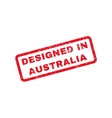 Designed In Australia Text Rubber Stamp vector image vector image