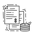 e-commerce payment hand drawn icon set outline vector image vector image