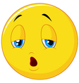 Exhausted and tired emoticon on isolated backgroun vector image vector image