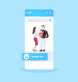 father mother and newborn bahaving fun together vector image