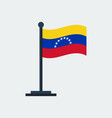 flag of venezuela flag stand vector image vector image
