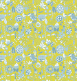Flower pattern seamless texture vector image vector image