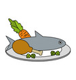 food fresh healthy vector image
