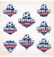 football soccer logos vector image vector image