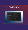 fortran programming language vector image vector image