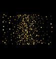golden confetti on black background luxury vector image