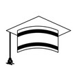 graduation hat isolated icon vector image vector image