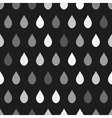 Gray Rain Dark Background vector image vector image