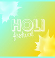 holi festival concept indian holiday vector image