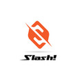 initial letter shape s slash logo sign symbol icon vector image vector image