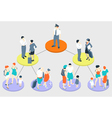 Isometric Infographic Holiday - Fly Tasks vector image vector image