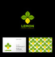 lemon logo vegetarian restaurant seamless pattern vector image