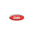 Links button vector image vector image