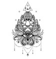 lotus eye sacred geometry ayurveda symbol of vector image vector image