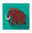 Mammoth icon in flat style isolated on white vector image vector image