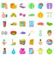 massage icons set cartoon style vector image vector image