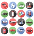 Natural Gas Long Shadow Icons Set vector image vector image