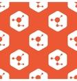 Orange hexagon molecule pattern vector image vector image