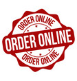 order online label or stamp vector image