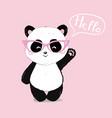 panda cute panda head isolated on white vector image