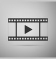 play video icon isolated on grey background vector image vector image