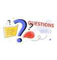 questions - modern colorful flat design style web vector image