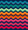 rainbow color wave seamless pattern vector image