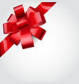 Red bow of ribbon vector image vector image