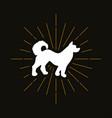 retro dog silhouette vector image vector image