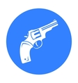 Revolver icon black Singe western icon from the vector image