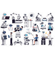 robots artificial intelligence set vector image vector image