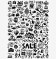 sale shoping doodles vector image