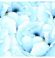seamless background with blue flowers vector image vector image